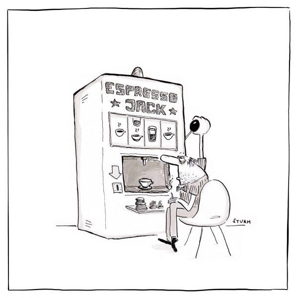 Espresso Jack – Cartoon von Philipp Sturm