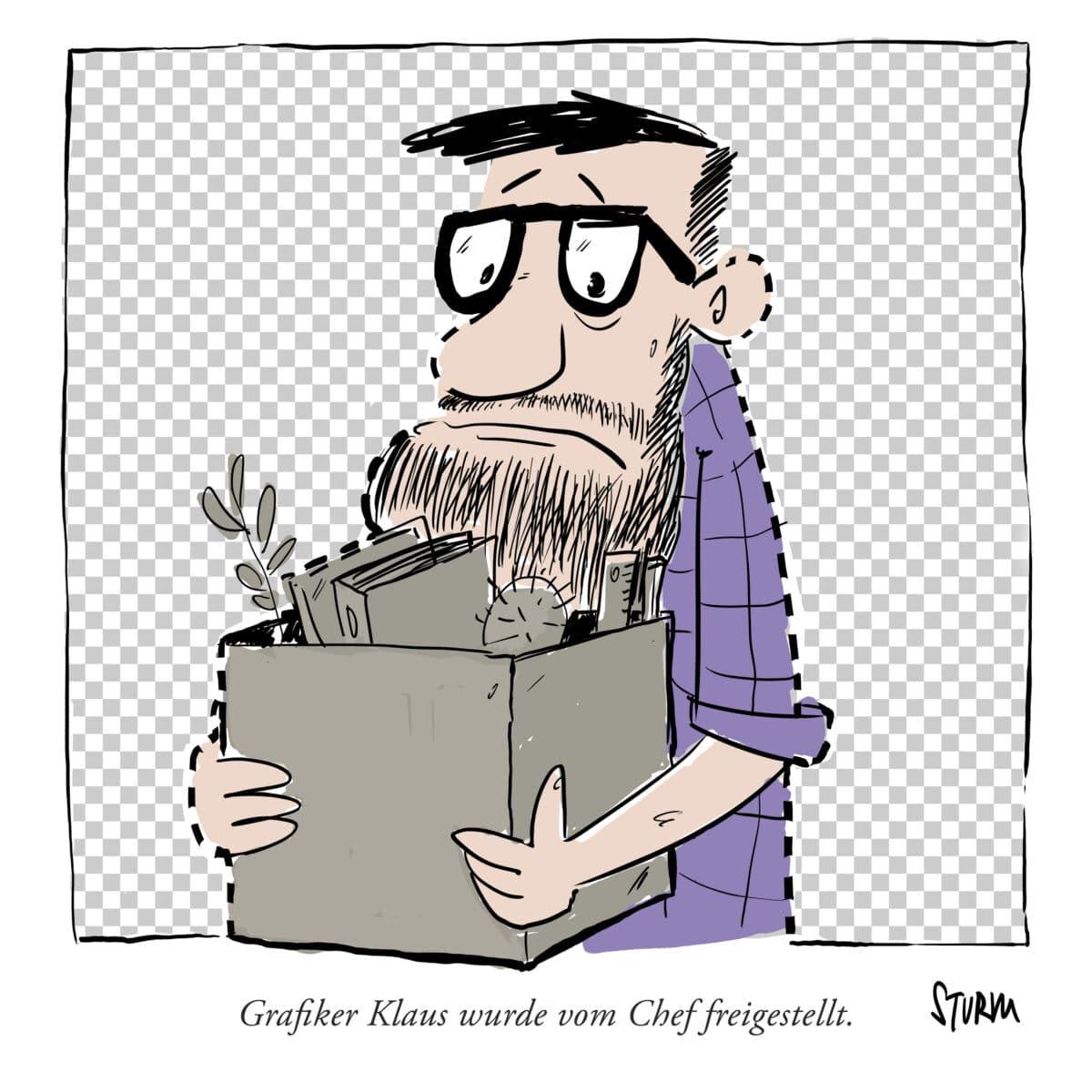 Dismissed - Cartoon by Philipp Sturm