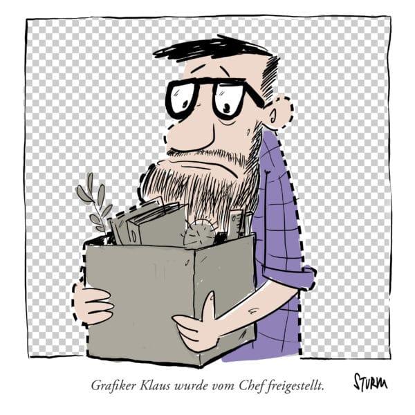 Freigestellt - Cartoon von Philipp Sturm