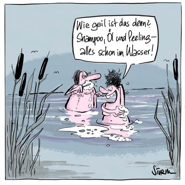 Seifenwasser – Cartoon Philipp Sturm