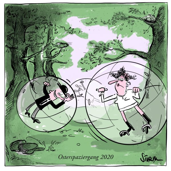 Osterspaziergang – Cartoon Philipp Sturm