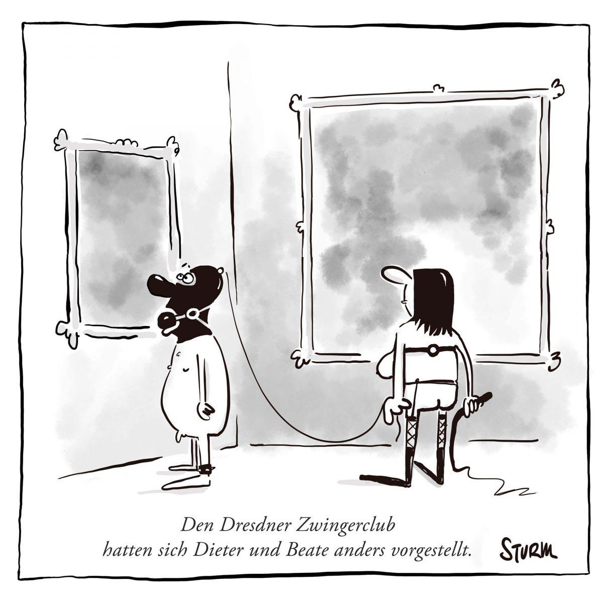Dresdner Zwingerclub – Cartoon von Philipp Sturm