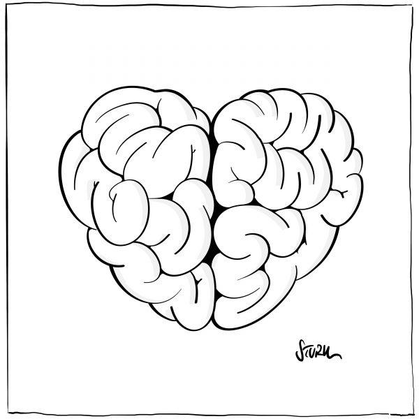 Herz und Hirn – Grafik von Philipp Sturm