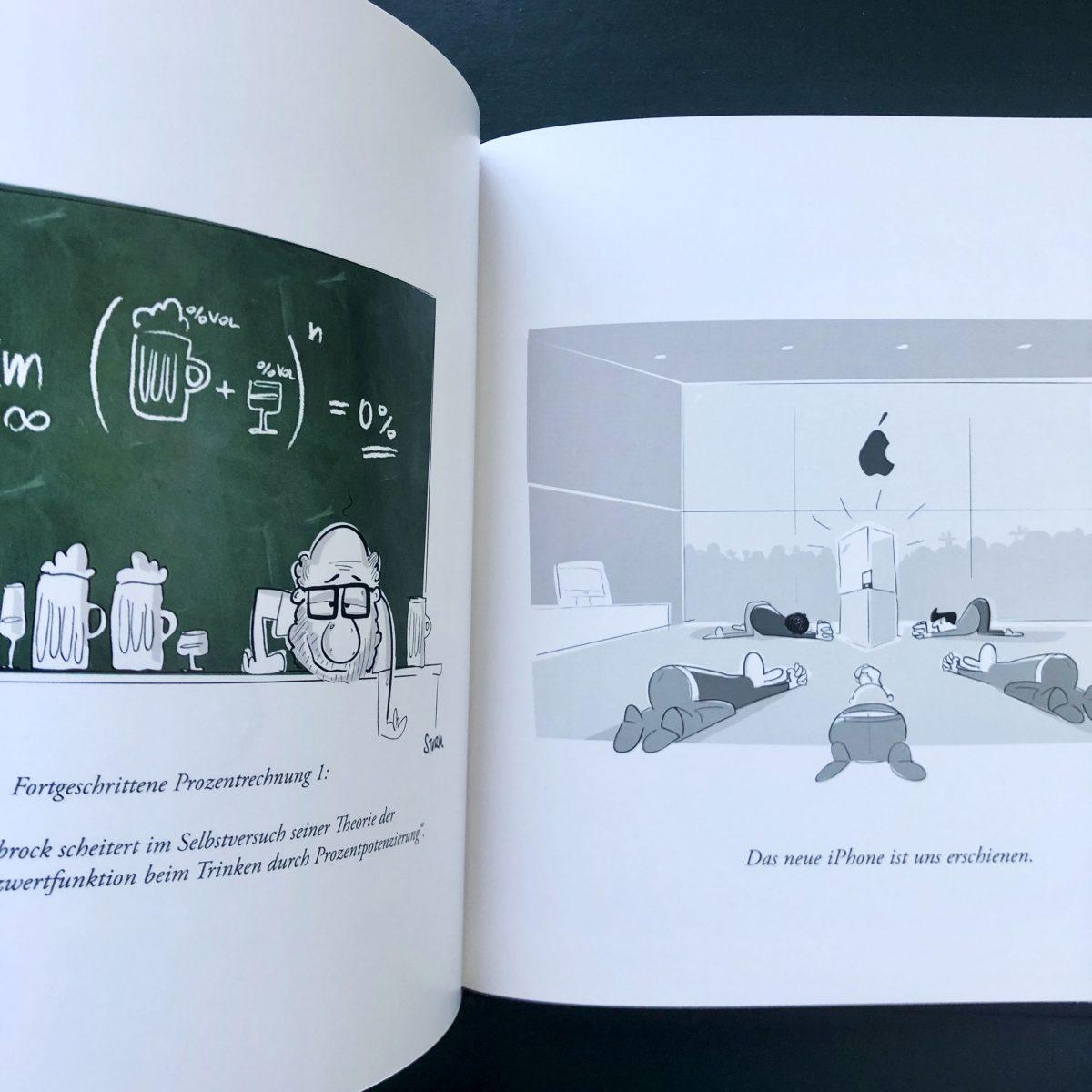 Buch Cartoons 2009 - 2019 von Philipp Sturm Innenansicht