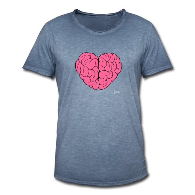 Herz und Hirn, Grafik von Philipp Sturm, Shirt und Merch