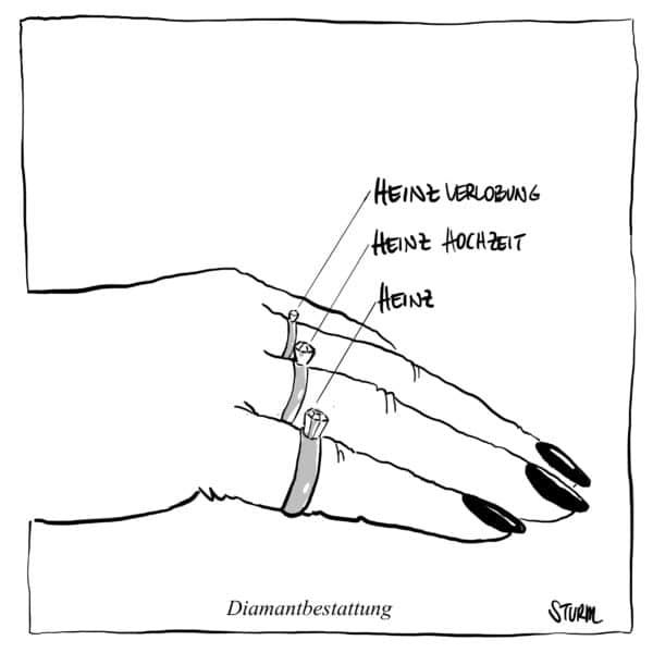 Diamond Burial – Cartoon by Philipp Sturm