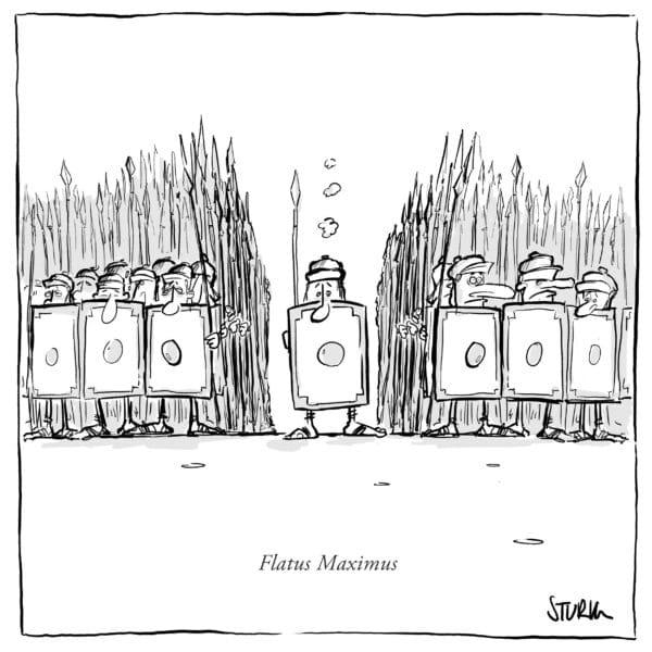 Flatus Maximus –Cartoon von Philipp Sturm