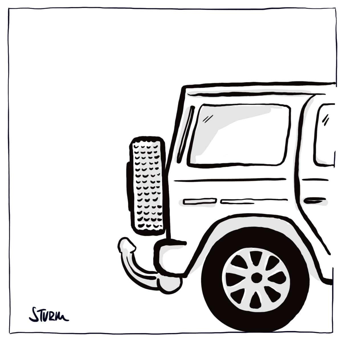 SUV Cartoon von Philipp Sturm
