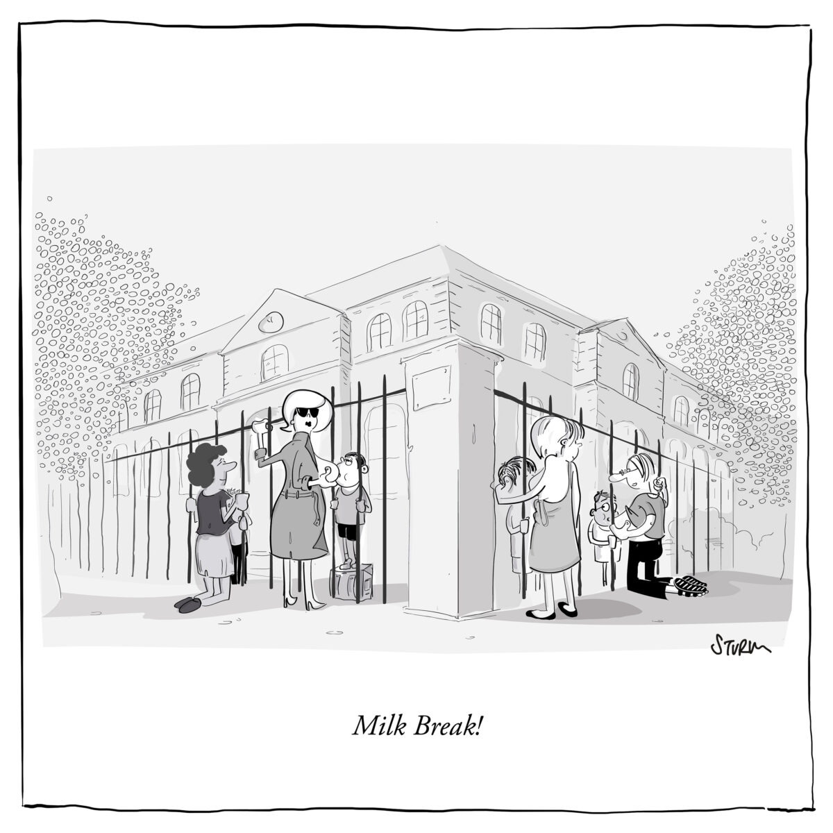 Milk Break - Cartoon by Philipp Sturm