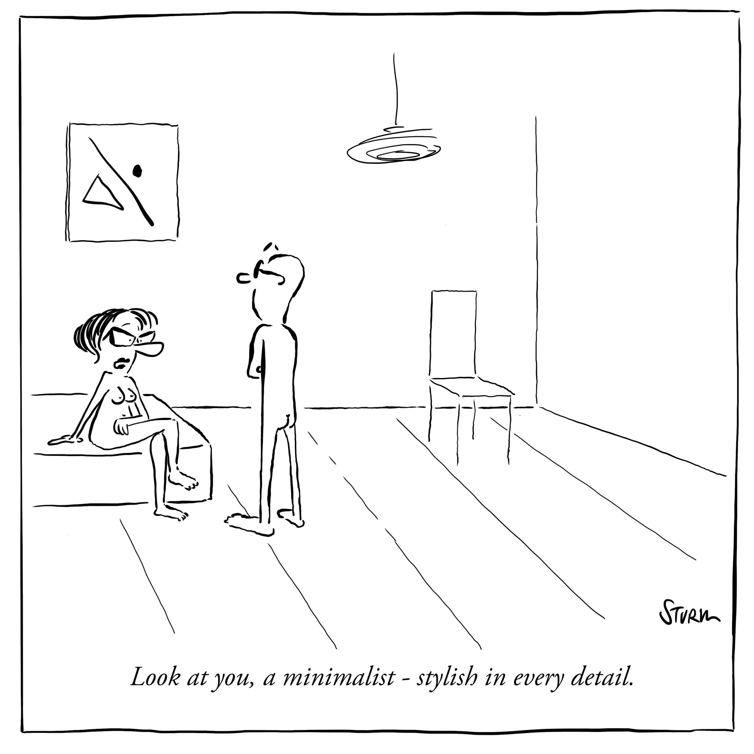 The Minimalist –Cartoon by Philipp Sturm