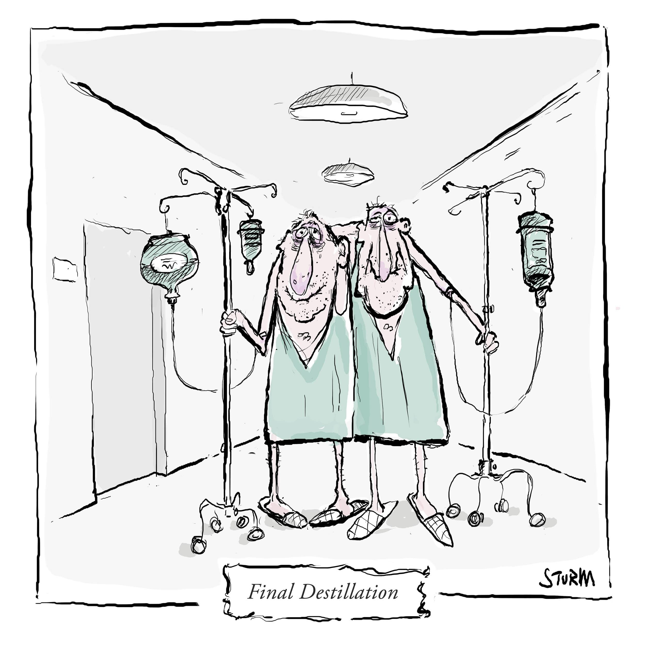 The Final Destillation - Cartoon Philipp Sturm