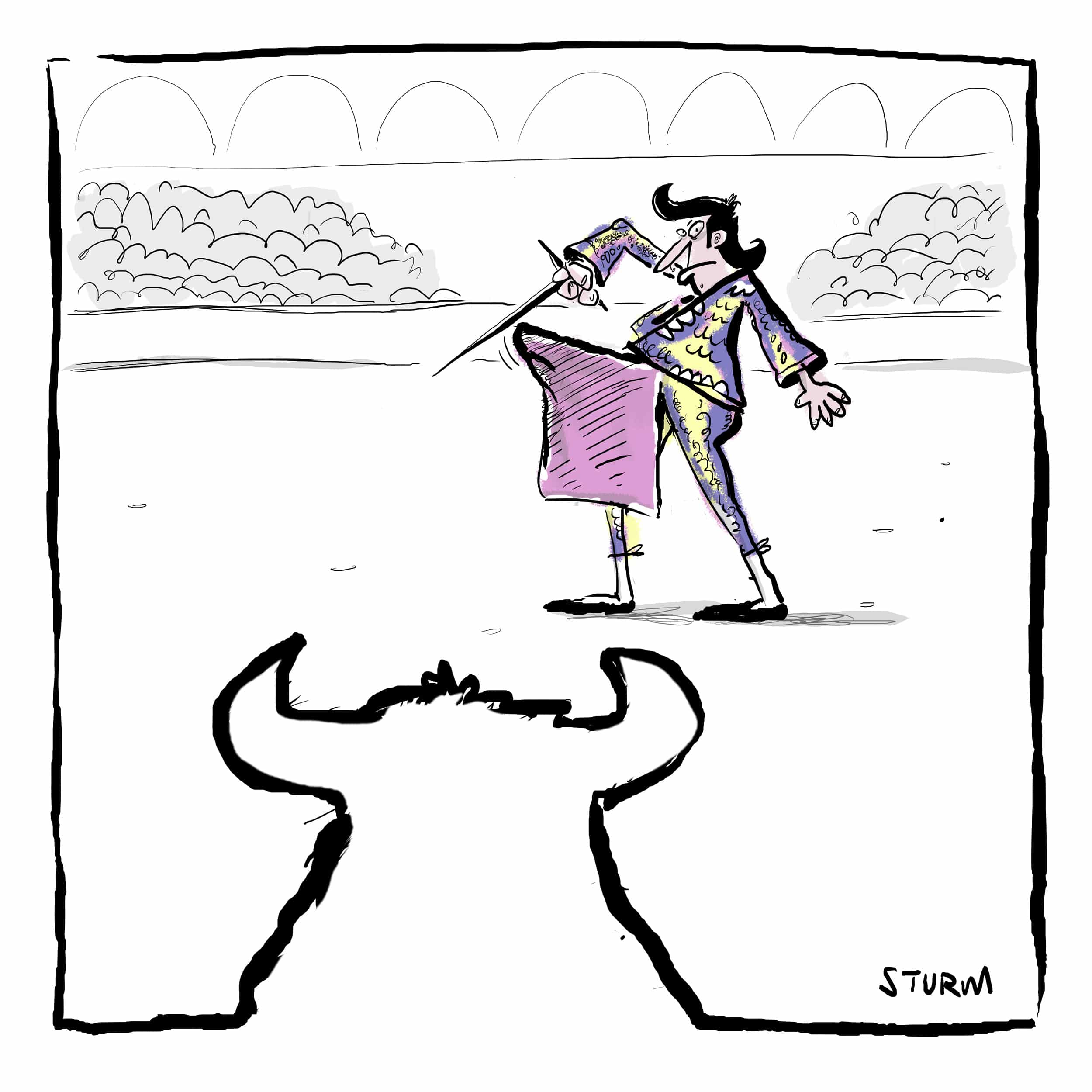 Matador - Cartoon Philipp Sturm
